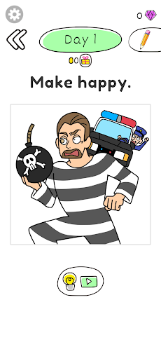 Draw Happy Prisoner-Free draw puzzle to help womanのおすすめ画像4