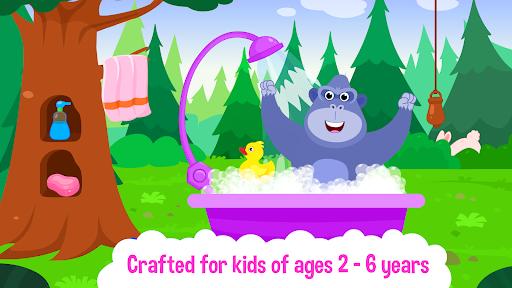 Baby Animal Bathing Game for Kids & Preschoolers apkdebit screenshots 4