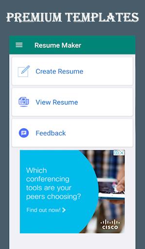 Resume Builder Free - CV Maker & PDF Download  screenshots 2