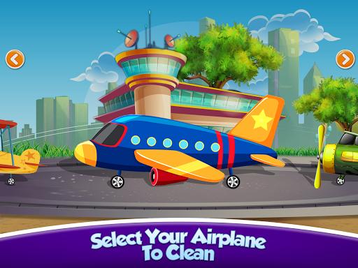 Kids Plane Wash Garage: Kids Plane Games  screenshots 1