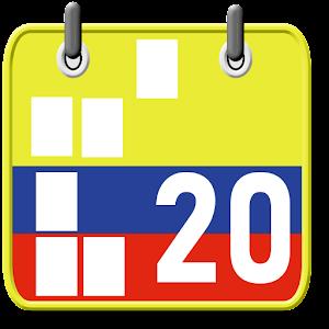 Calendario Festivos Colombia 2021 2022 con Widget