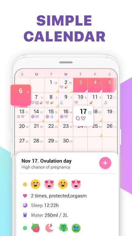 Period Tracker, Ovulation Calendar & Fertility app  poster 1