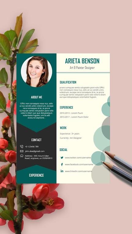 Resume Template, Resume Writer & Cover Letter  poster 0