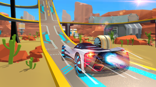 Mega Ramps - Galaxy Racer apkslow screenshots 1
