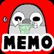 待受にメモ「ぺそぎん」かわいいペンギンのメモ帳ウィジェット無料 - Androidアプリ
