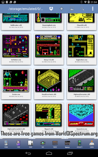 Speccy - Complete Sinclair ZX Spectrum Emulator filehippodl screenshot 9