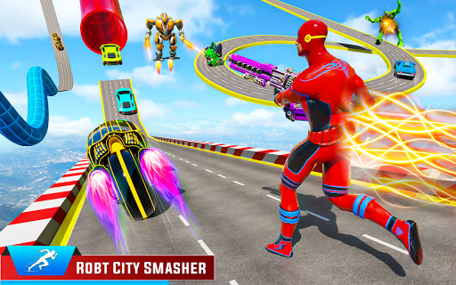 Speed Hero Robot Ramp Bike Transform Robot Games 1.7 screenshots 6