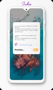 Fuchsia KWGT – Gradient Based Widgets 1