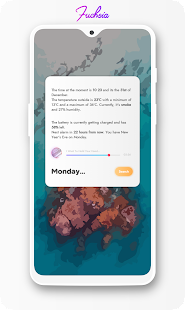 Fuchsia KWGT - Gradient Based Widgets Screenshot