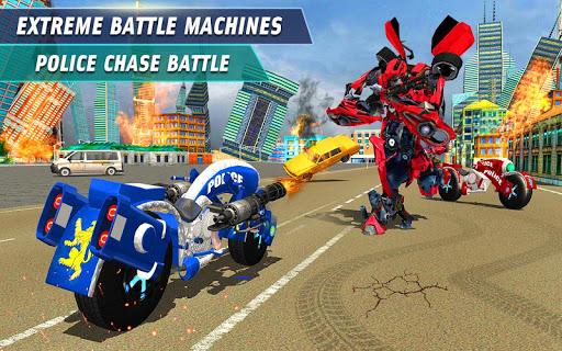 Télécharger Gratuit Flying Robot Police Chase- City Fighter War Robots APK MOD (Astuce) screenshots 1