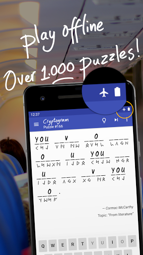 Cryptogram - puzzle quotes  screenshots 3