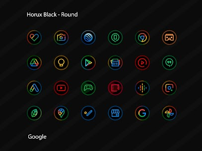 Horux Black APK- Round Icon Pack (PAID) Download 3