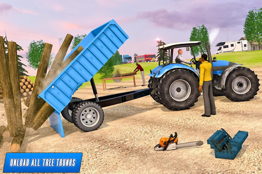 Drive Tractor trolley Offroad Cargo- Free 3D Games apkslow screenshots 2