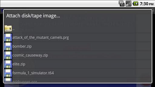 Mobile C64 modavailable screenshots 3