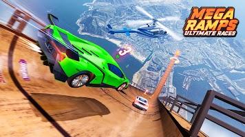 Mega Ramp Superhero Car Stunts