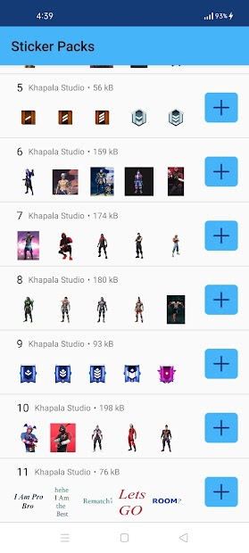 Captura de Pantalla 4 de WAStickerApps - FF Stickers for WhatsApp 2021 para android