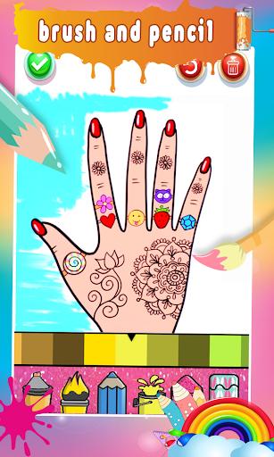 Glitter Nail Drawing Book and Coloring Game 5.0 Screenshots 5