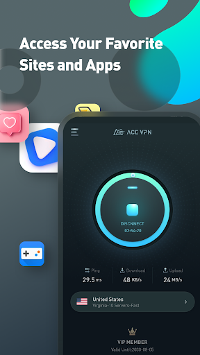 Super VPN Proxy Master & Protector - ACE VPN android2mod screenshots 9