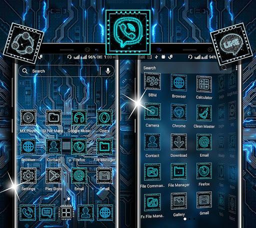 hi-tech circuit launcher theme screenshot 3