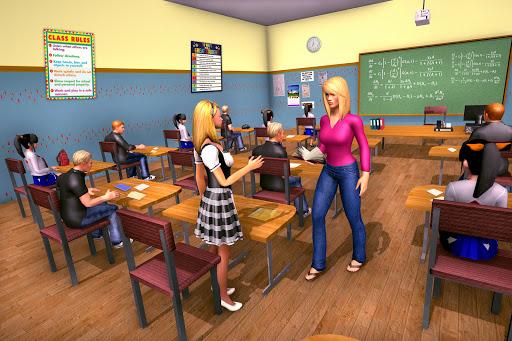 Virtual School Girl Simulator: High School Game apktram screenshots 1