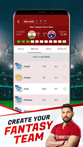 Howzat Fantasy Cricket App - Free Fantasy Games apkdebit screenshots 3