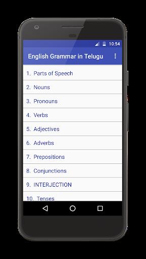 English Grammar in Telugu apktram screenshots 1