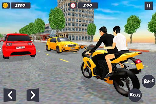 Bike Taxi Simulator: Passenger Transport Game apkmartins screenshots 1