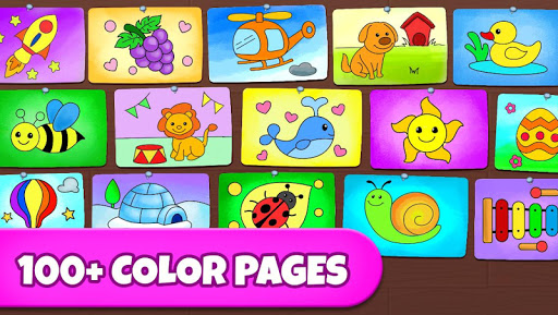 Coloring Games: Coloring Book, Painting, Glow Draw  screenshots 4