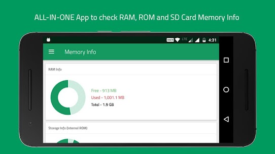 Memory Info (RAM, ROM Internal & SD Card External) 2.22 Mod + Data (APK) Full 2