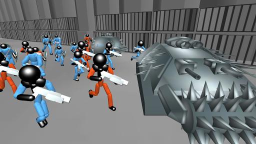 Stickman Prison Battle Simulator: Zombies screenshots 2
