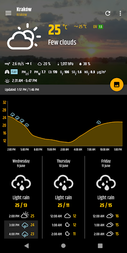 Simple weather & clock widget (no ads) modiapk screenshots 1