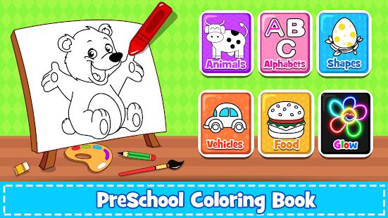 Coloring Games : PreSchool Coloring Book for kids screenshots 16
