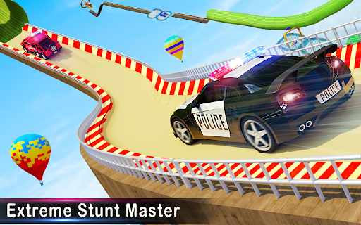 Police Car Racing Stunts 3D : Mega Ramp Car Games 3.8 screenshots 10