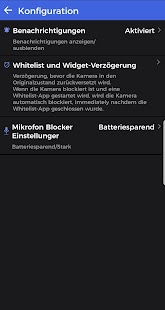 Kamera und Mikrofon Blocker Screenshot