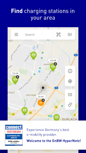 EnBW mobility+ Compare & Charge Electric Cars 6.7.0 Screenshots 1