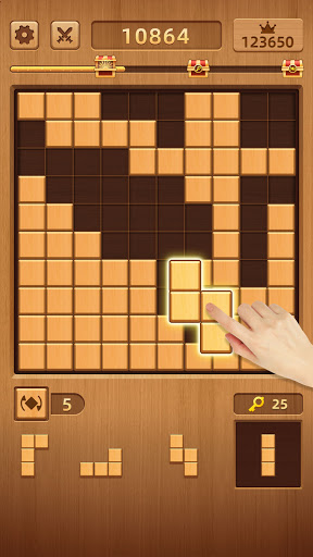 WoodCube: 2021 Free Classic Wood Block Puzzle Game apktreat screenshots 2