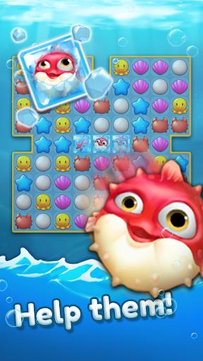 Ocean Friends : Match 3 Puzzle 41 screenshots 2
