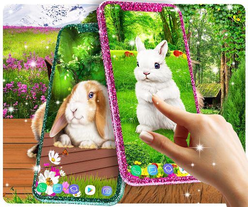 Cute bunny live wallpaper for android modavailable screenshots 1