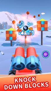 Color ball blast:merge tank and knock down blocks