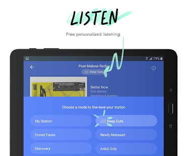 Pandora - Streaming Music, Radio & Podcasts Screenshot