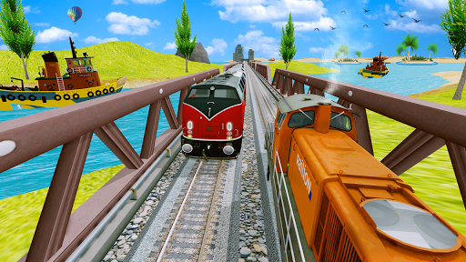 Modern Train Driving Simulator: City Train Games  screenshots 24