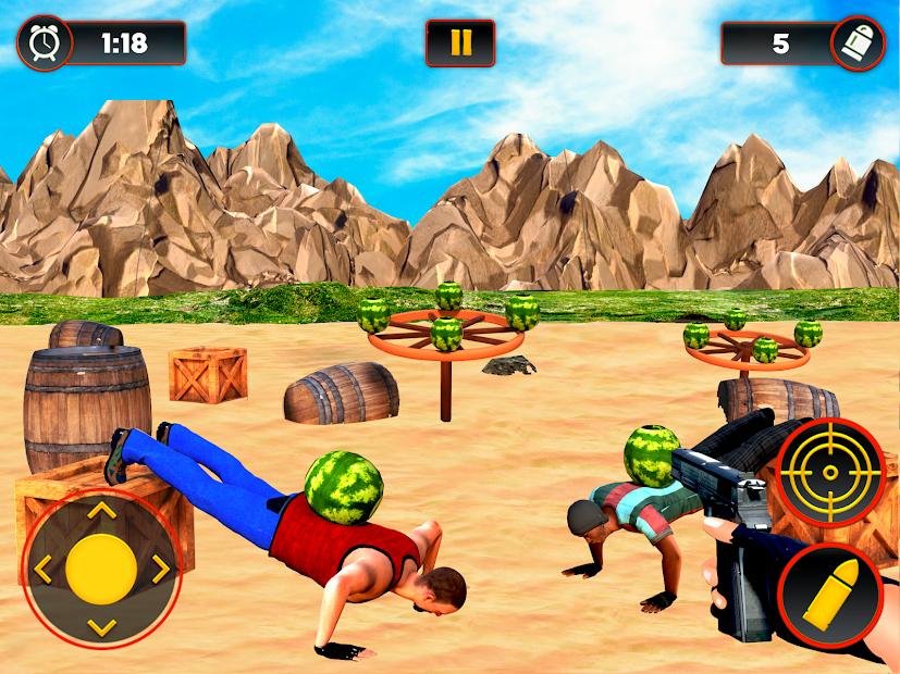 Screenshot 13 de Sandía Shooter Juego - Fruta del tiroteo para android