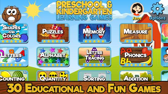 Preschool and Kindergarten Learning Games 6.8 screenshots 1