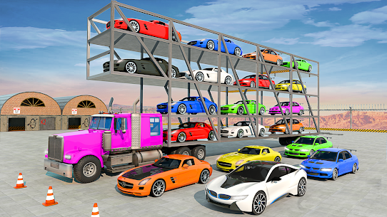 Crazy Car Transport Truck: Offroad Driving Game 7
