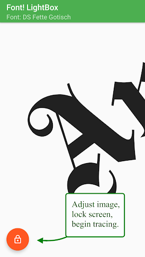 Font! Lightbox tracing app  screenshots 5