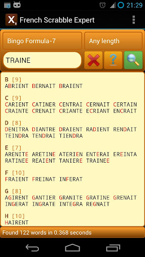 Word Expert - French (for SCRABBLE) 3.5 screenshots 4