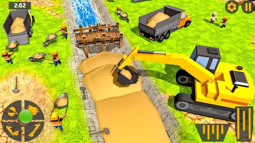 mega city canal construction & road builder screenshot 3