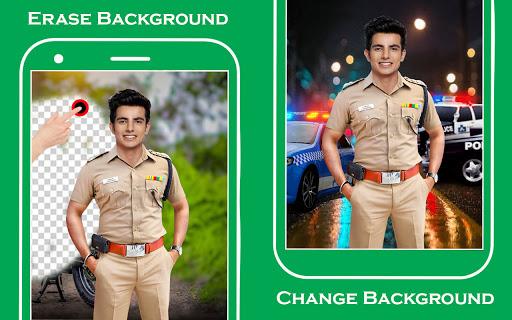 Men police suit photo editor  screenshots 2