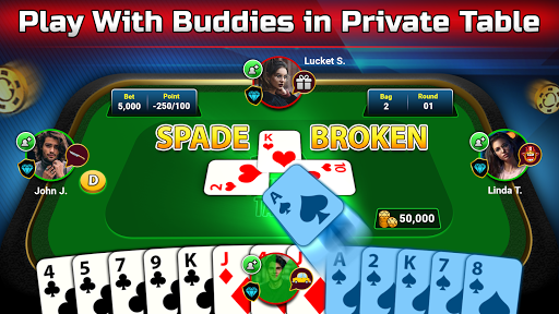 Spades Free - Multiplayer Online Card Game modavailable screenshots 3