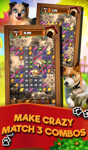 Match 3 Puppy Land - Matching Puzzle Game 1.0.16 screenshots 2